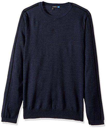 J.Lindeberg Men's Nolan Merino Sweater, Navy Melange, M