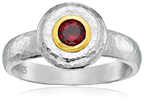 Gurhan Droplet Sterling Silver Garnet Droplet Ring, Size 7