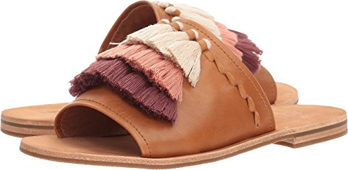 FRYE Women's Riley Tassel Slide Tan 8.5 B US