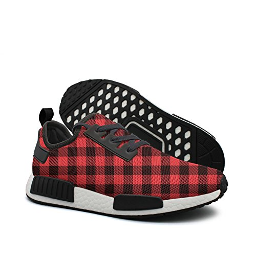 Red Plaid Men Trainers Customize Nmd 2018 Red Plaid
