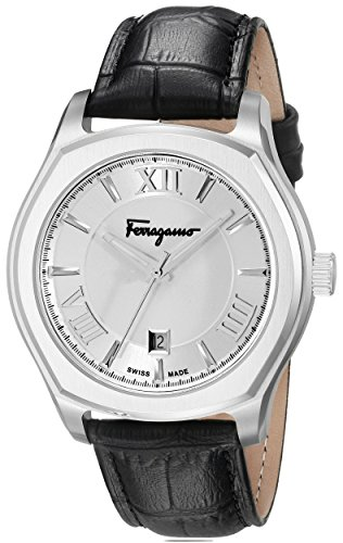 Salvatore Ferragamo Men's Lungarno Stainless Steel Watch with Leather Band