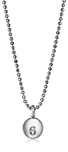 Alex Woo Mini Addition 'Number 6' Chain in Sterling Silver Pendant Necklace, 16""