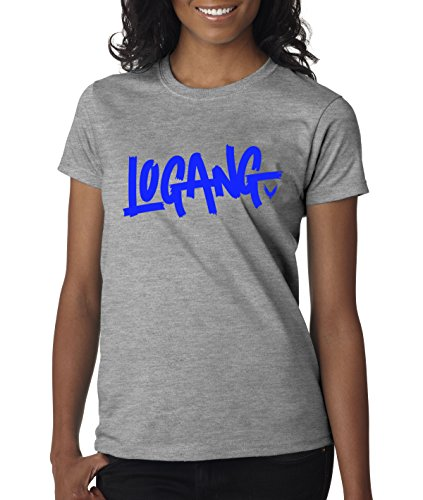 New Way 785 - Women's T-Shirt Logang Logan Paul Maverick Savage Collection 2XL Heather Grey