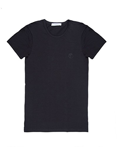Versace Collection Mens Black Cotton Crew Neck Medusa Undershirt T-shirt Viogco1 (L)
