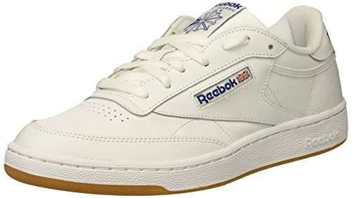 Reebok Men's Club C 85 Fashion Sneaker, White/Royal-Gum, 7.5 M US