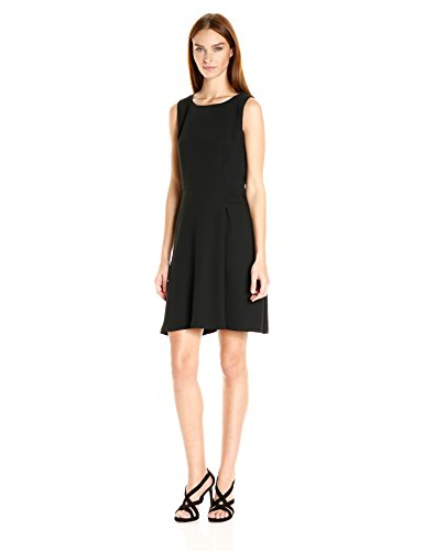 A|X Armani Exchange Women's Sleeveless 'Faux Belt Dress, Black, 10