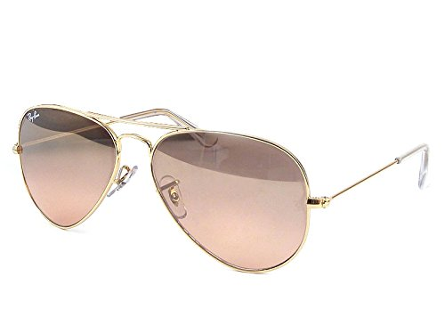 Ray-Ban Women's Oversized Original Aviator Sunglasses, Gold/Smoke Rose Mirror, One Size