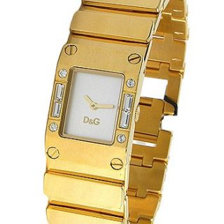 D&G Dolce & Gabbana Women's Gold Tone Stainless Steel with White Dial Watch