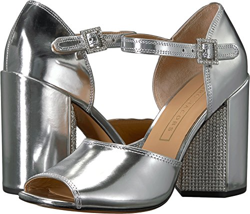 Marc Jacobs Women's Kasia Strass Heeled Sandal, Silver, 38.5 M EU (8.5 US)