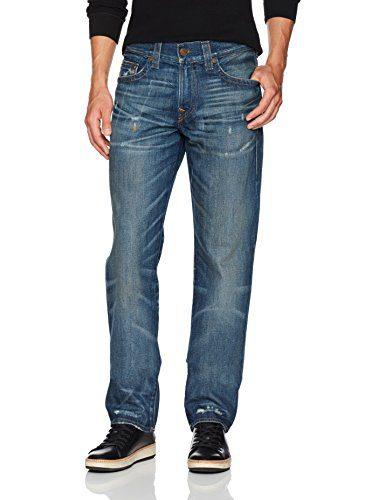 True Religion Men's Geno Slim Straight Jeans1, Street Dweller, 30