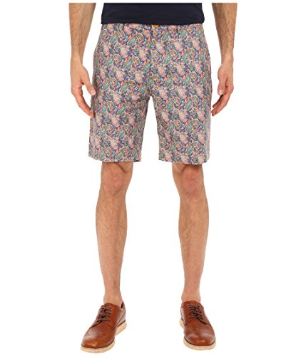 Robert Graham Mens Lake Havasu Linen-Blend Short, 44