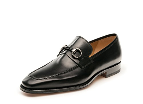 Magnanni Men's Lezuza Slip-On Loafer, Guodi Black, 10.5 M US