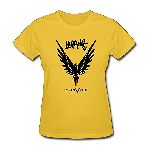 Logan Paul Logo Maverick Pink Womens Two-Sided T-Shirt Round Collar Short-Sleeves T-Shirts