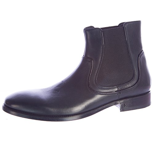 John Varvatos Men's Fleetwood Chelsea Leather Boots 7 Black