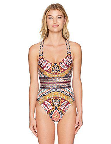 Nanette Lepore Women's Super Fly Paisley Goddess One Piece Swimsuit, Multi, S