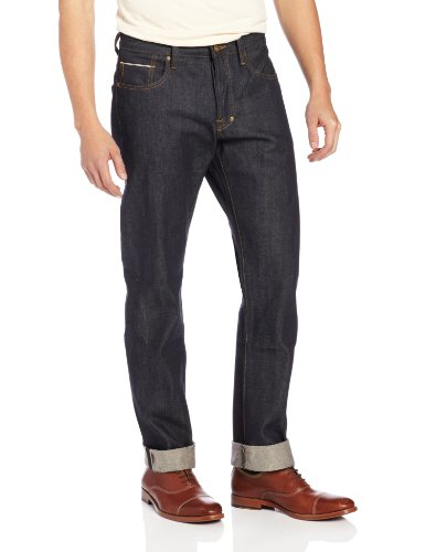 PRPS Goods & Co. Men's Barracuda Straight Leg Jean Indigo Selvedge Jean in Raw, Raw, 30
