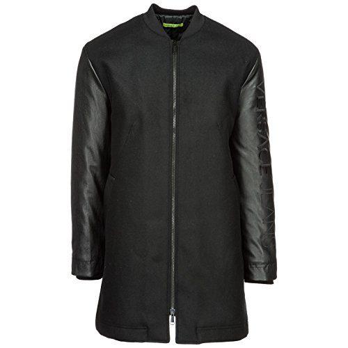 Versace Jeans Men's Coat Overcoat Black US Size 48 (US 38)