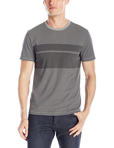 Original Penguin Men's Chest Stripe Short Sleeve T-Shirt, Griffin, Large