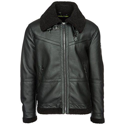 Versace Jeans Men's Outerwear Jacket Blouson Black US Size 48 (US 38)