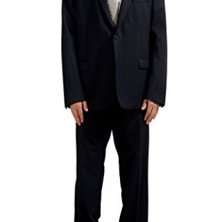 Versace Collection Men's Wool Navy Blue Two Button Suit US 48 IT 58