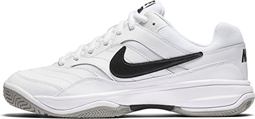 NIKE Men's Court Lite Tennis Shoe, White/Medium Grey/Black, 13 D(M) US