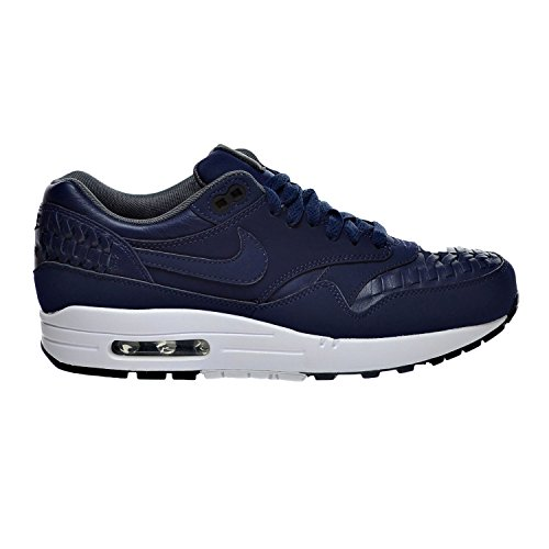 NIKE Air Max 1 Woven Men's Sneaker Shoes Midnight Navy/Black  (12.5 D(M) US)