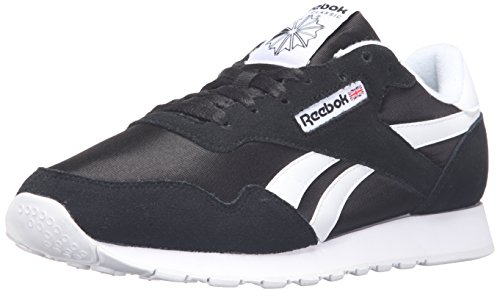 Reebok Royal Nylon Classic Fashion Sneaker, Black/Black/White, 10.5 M US