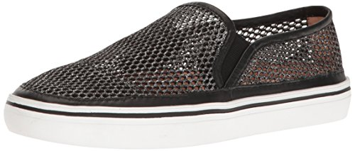 Kate Spade New York Women's Sallie Fashion Sneaker, Black Metallic Mesh, 8 M US