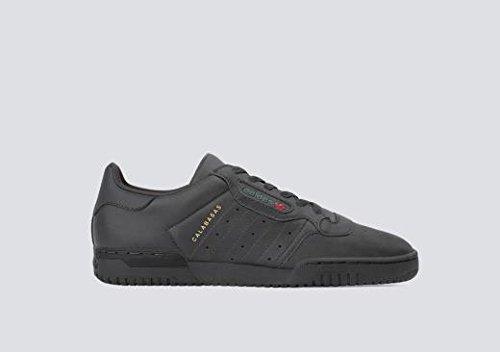 adidas Originals Yeezy Powerphase Mens Trainers Sneakers (UK 8.5 US 9 EU 42 2/3, Black Sup COL CG6420)