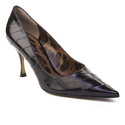 Dolce & Gabbana Women's Leather High Heel Pump Shoes Black