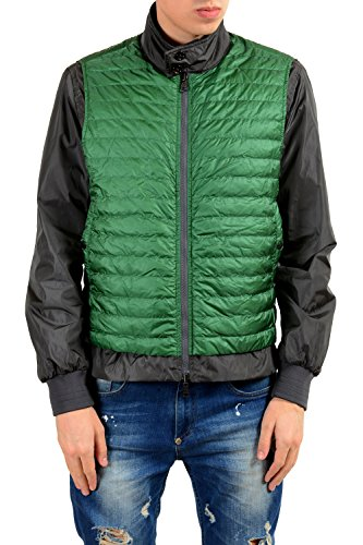 Moncler Men's Gray Green Down Reversible Light Windbreaker Jacket Size 3 US L