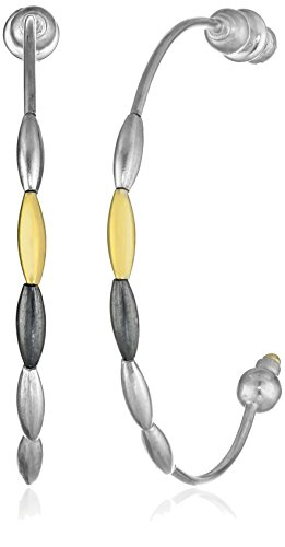 "GURHAN""Spring"" Silver with High Karat Gold Accents Earrings"