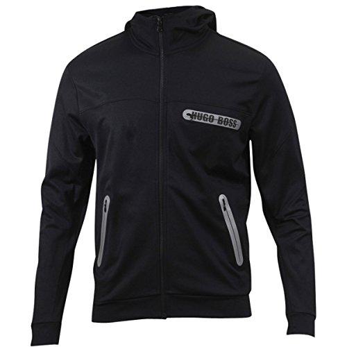 Hugo Boss Men's Dynamic Black Zip-Through Long Sleeve Hooded Jacket SZ: L