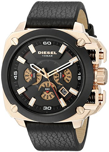 Diesel Men's Analog Display Analog Quartz Black Watch