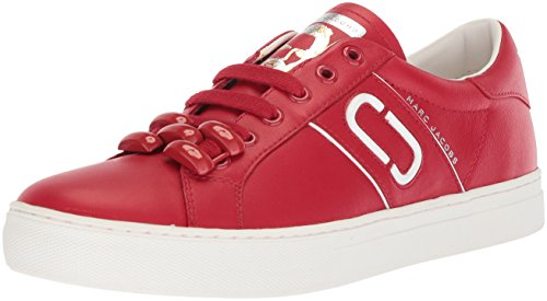 Marc Jacobs Women's Empire Chain Link Sneaker, Red, 41 M EU (11 US)