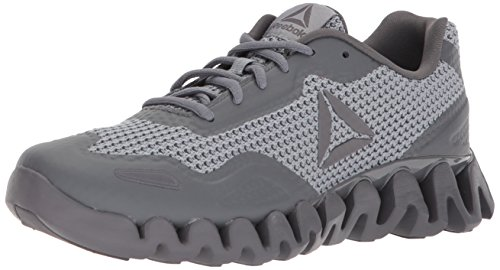 Reebok Men's Zig Pulse Running Shoe, Flint Grey/Alloy/Ash Grey, 10.5 M US