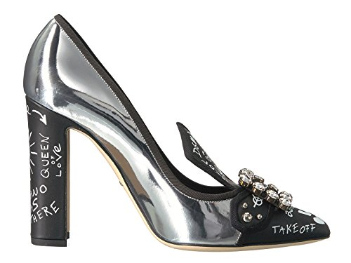 Dolce e Gabbana Women's Silver Leather Pumps