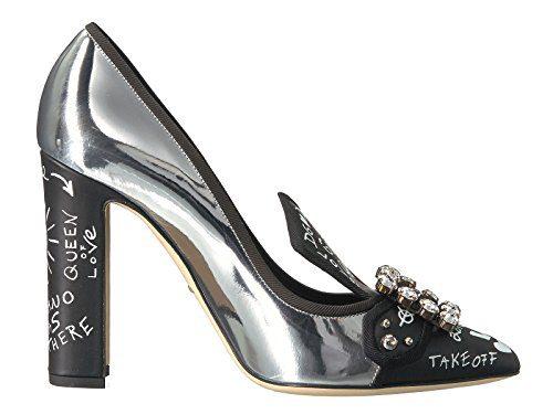 Dolce e Gabbana Women's Silver Leather Pumps