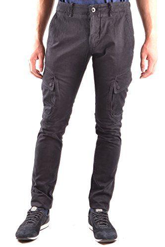 Stone Island Men's Black Cotton Pants