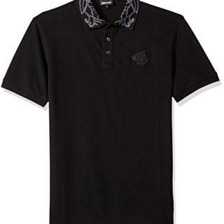Just Cavalli Men's Polo Shirt, Black, L