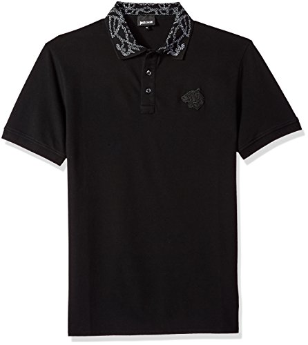 Just Cavalli Men's Polo Shirt, Black, L