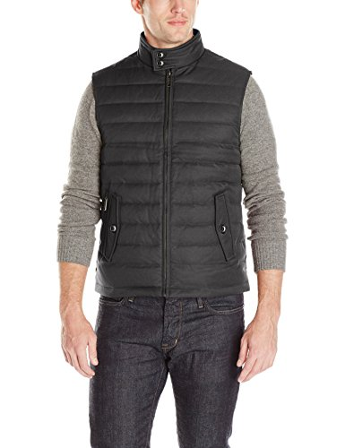 Ted Baker Men's Dylan Quilted Vest, Charcoal, 6/XX-Large