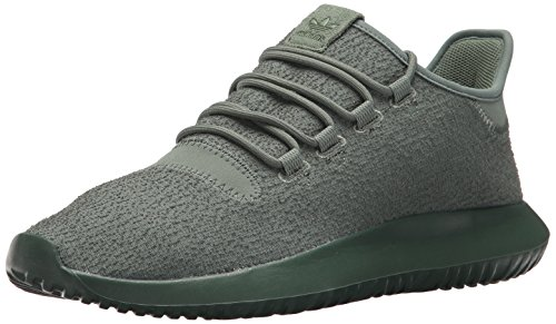 adidas Originals Men's Tubular Shadow Sneaker, Trace Green/Trace Green/Tactile Yellow, 9 Medium US
