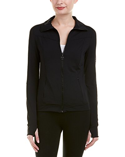 Trina Turk Recreation Women's Once in a Tile Solid Jacket, Black, Large