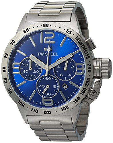TW Steel Men's Analog Display Quartz Silver Watch