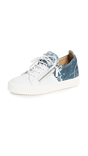 Giuseppe Zanotti Women's Zip Sneakers, Bianco, 37.5 IT