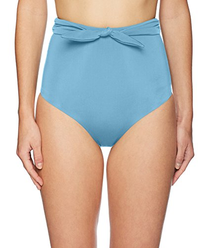 Mara Hoffman Women's Jay High Waisted Bikini Bottom Swimsuit, Vento Blue, Small