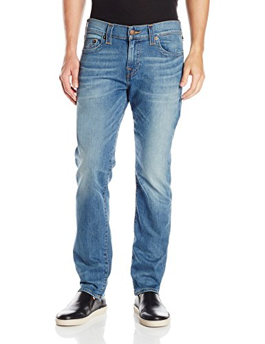 True Religion Men's Geno Slim Straight No Flaps, Flagstone, 34