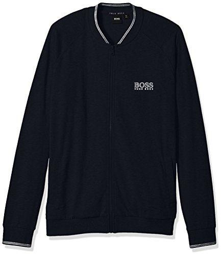 Hugo Boss Men's College Jacket Zip, Dark Blue, M