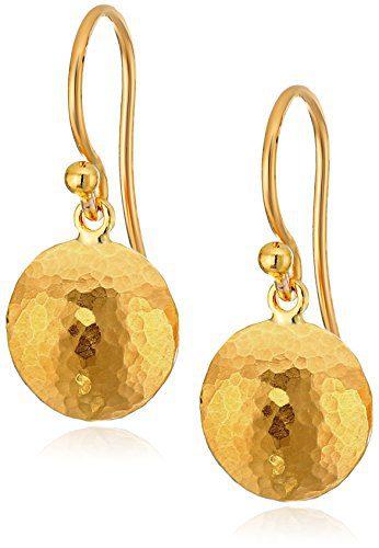 """GURHAN""""Lentil"""" 24k Gold Hook Drop Earrings"""